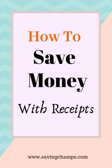 How to save money with receipts