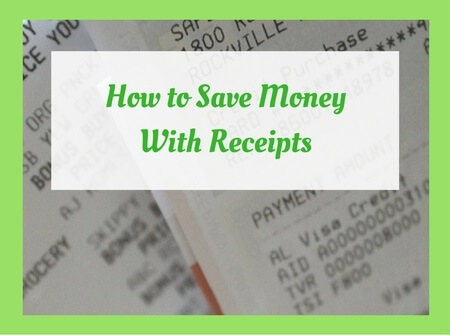 save money with receipts