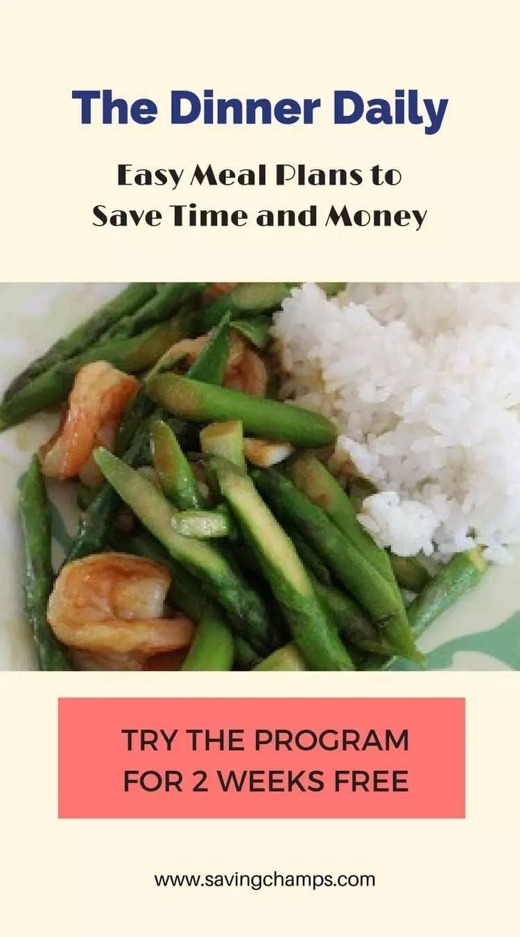The Dinner Daily is a program designed to help people prepare dinner using ingredients that are on sale.  It does all the thinking, planning, and budgeting. | The Dinner Daily; meal plan; save money on meals; save money on food.
