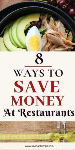 8 ways to save money at restaurants