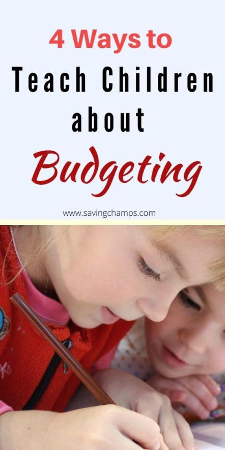 Teach children about budgeting