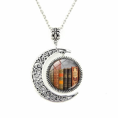 Best Gifts for Book Lovers_Library Book Necklace