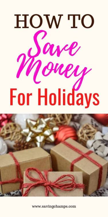 How to Save Money for Holidays