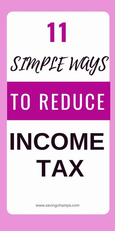 ways to reduce income tax