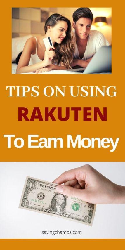 how to use rekuten to earn money