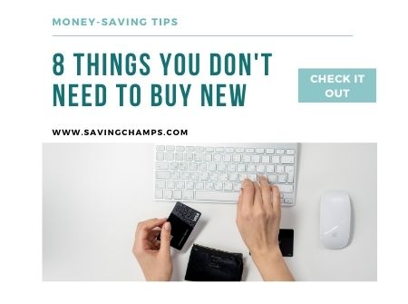 Things you don't need to buy new