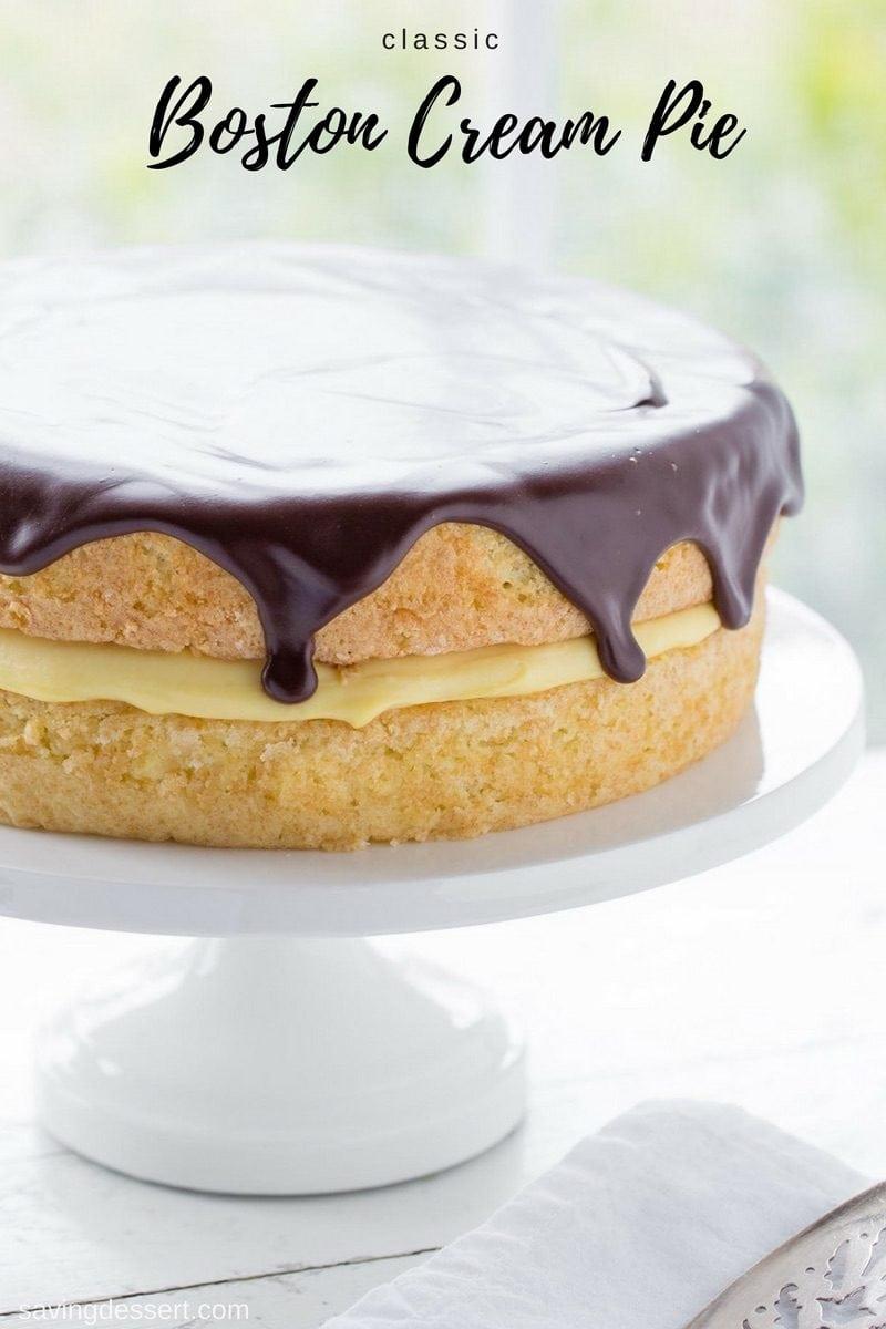 Betty Crocker Boston Cream Pie : betty, crocker, boston, cream, Classic, Boston, Cream, Saving, Dessert