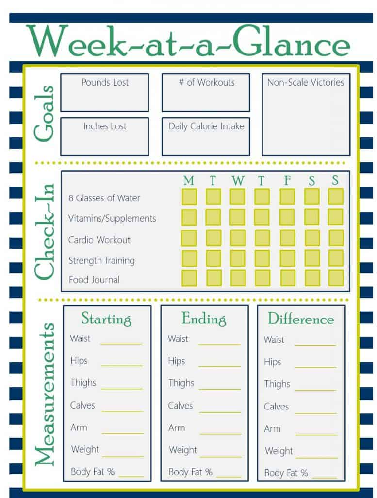 Meal Planning Template Bullet Journal