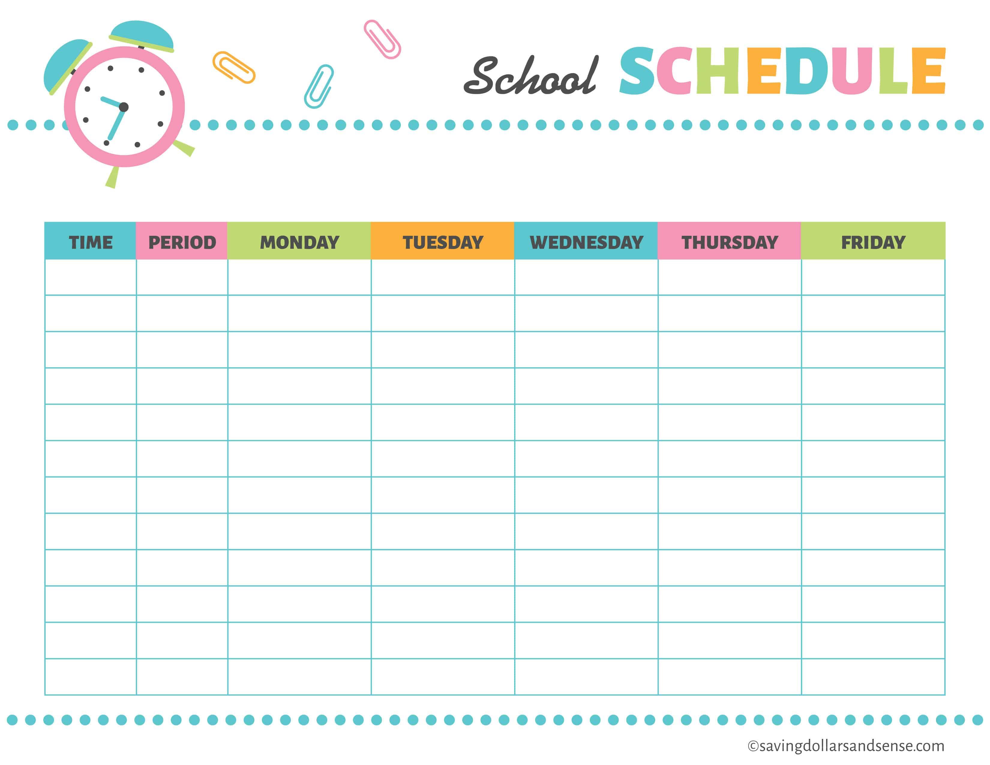 Printable School Planning Kit