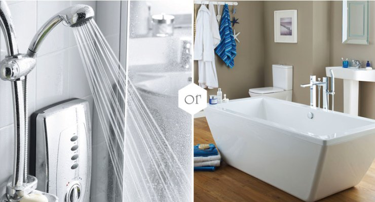 Which uses less , bath or shower? The answer may surprise you.