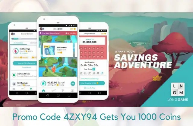 Long Game Promo Code 4ZXY94 Gives You 1,000 Free Coins (2018)