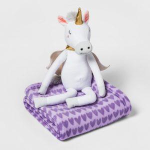 Pillowfort Unicorn Throw Blanket