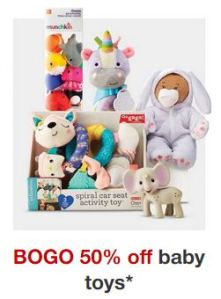 EXPIRED – Target | Buy One Get One 50% Off Baby Toys