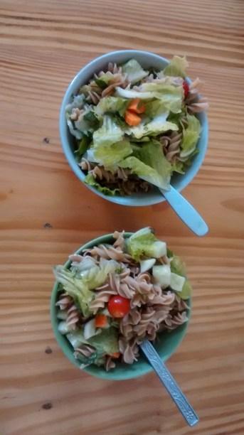 home cooking: pasta salad