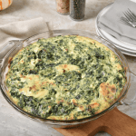 Easy Spinach and Cheese Crustless Quiche