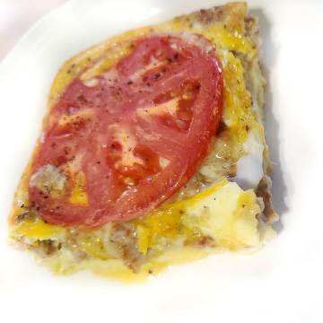 Sausage, Onion, & Tomato Breakfast Quiche