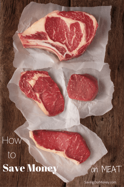 How to Save Money on Meat - great tips for keeping your grocery bill down!