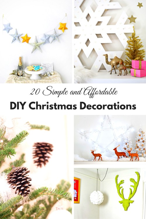 You don't have to spend a fortune to decorate your house beautifully for Christmas. Check out these simple and affordable DIY Christmas Decorations.
