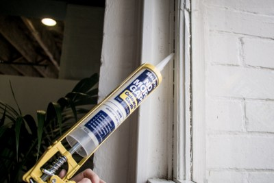 winter proof your house by caulking around your windows to help reduce your heating bill costs this winter