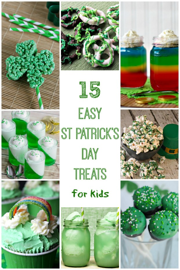 15 Easy St. Patrick's Day Treats for Kids. #recipes #stpatricksday