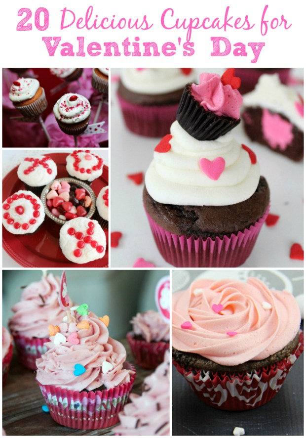 20 Delicious Valentine's Day Cupcakes. #ValentinesDay #cupcakes