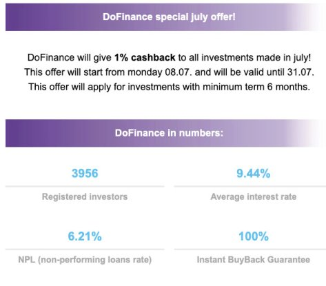 DoFinance July Cashback Offer @ Savings4Freedom