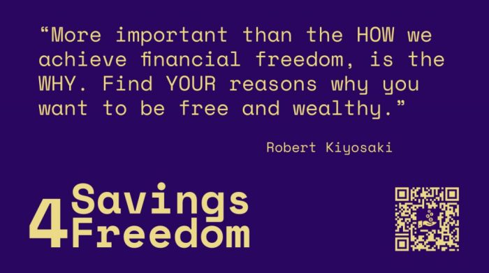 Savings4Freedom Quote Robert Kiyosaki
