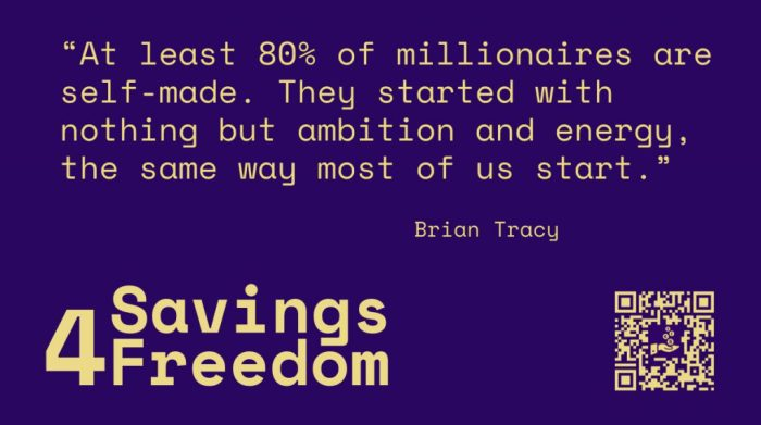 Savings4Freedom Quote Brian Tracy