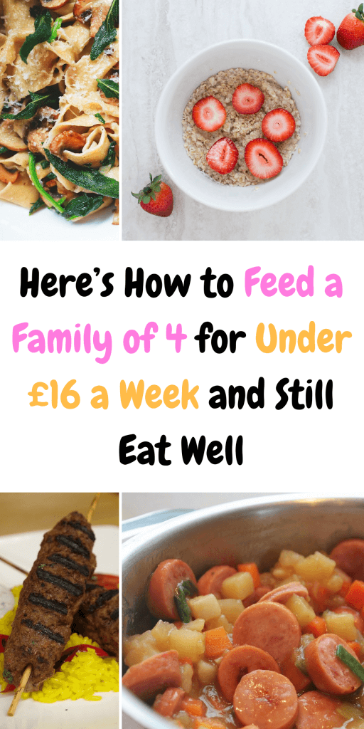 Struggle to feed your family for under £30 a week? Then here's how to shop for under £20 for 4 people, including a FREE meal plan and shopping list by Laura at Savings 4 Savvy Mums. #MealPlans #BudgetRecipes #CheapFood