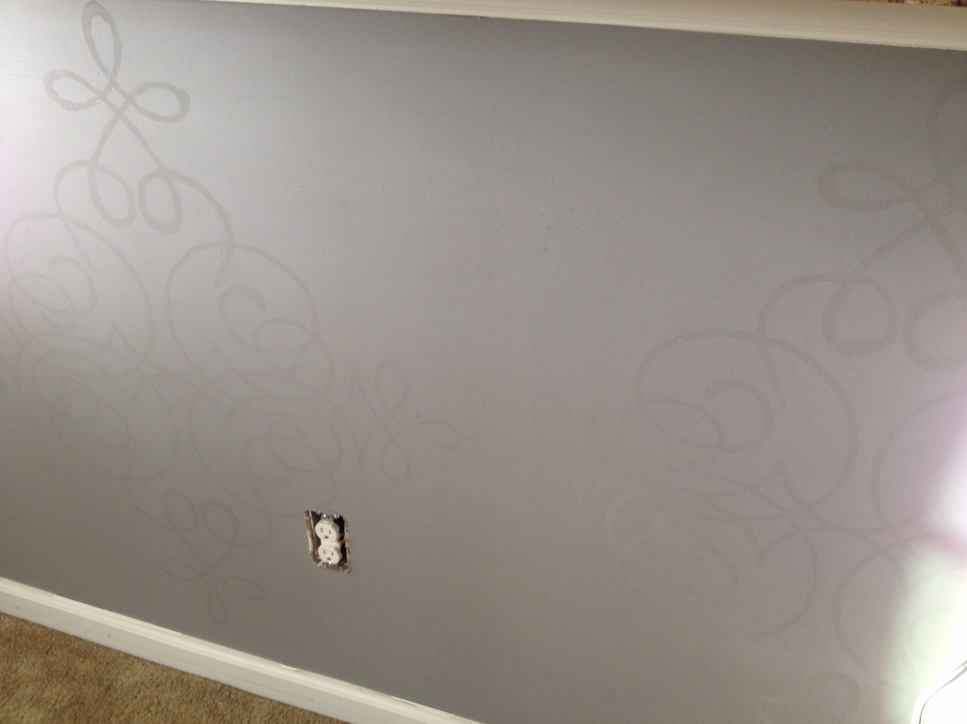 Painting a Wall Design