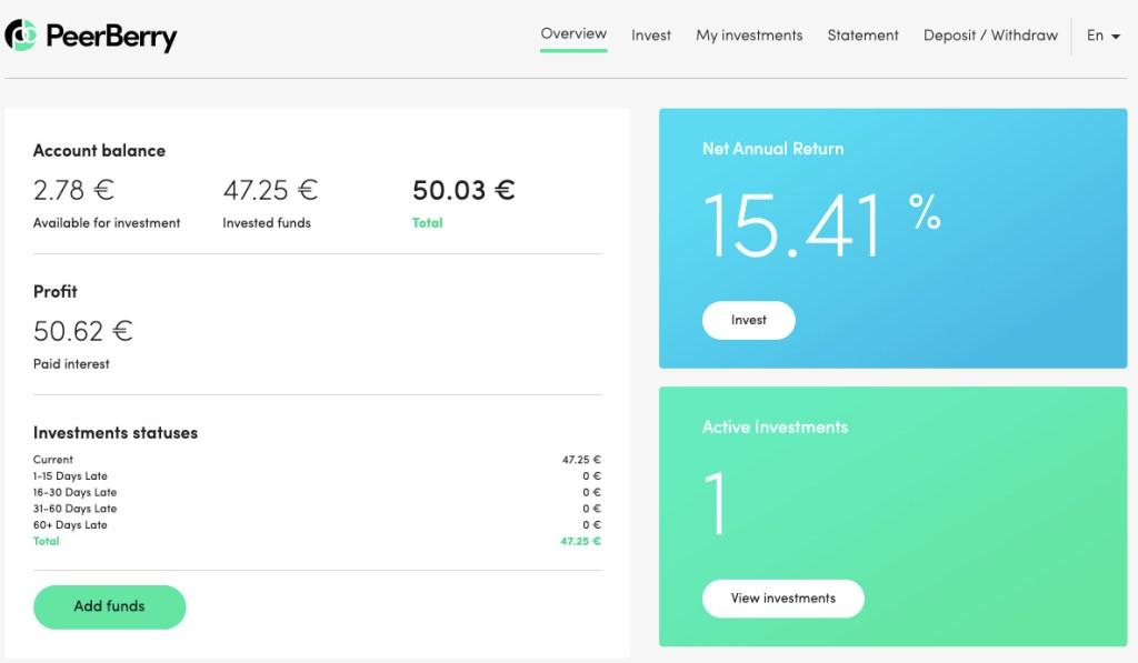 PeerBerry Update SavingsForFreedom September 2020