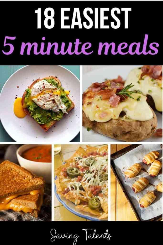 quick five minute meals