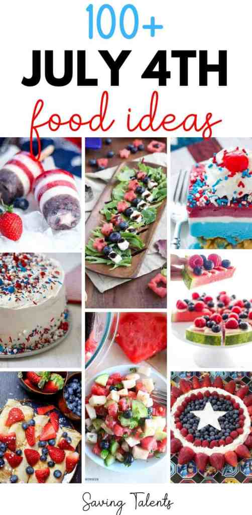 Huge List of Over 100 Patriotic Food Ideas
