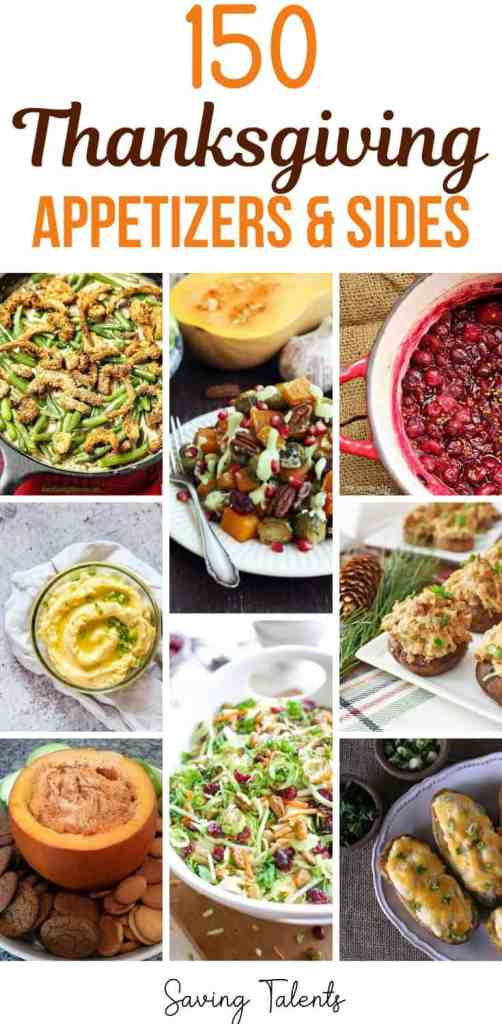 150 Thanksgiving Appetizers & Side Dishes