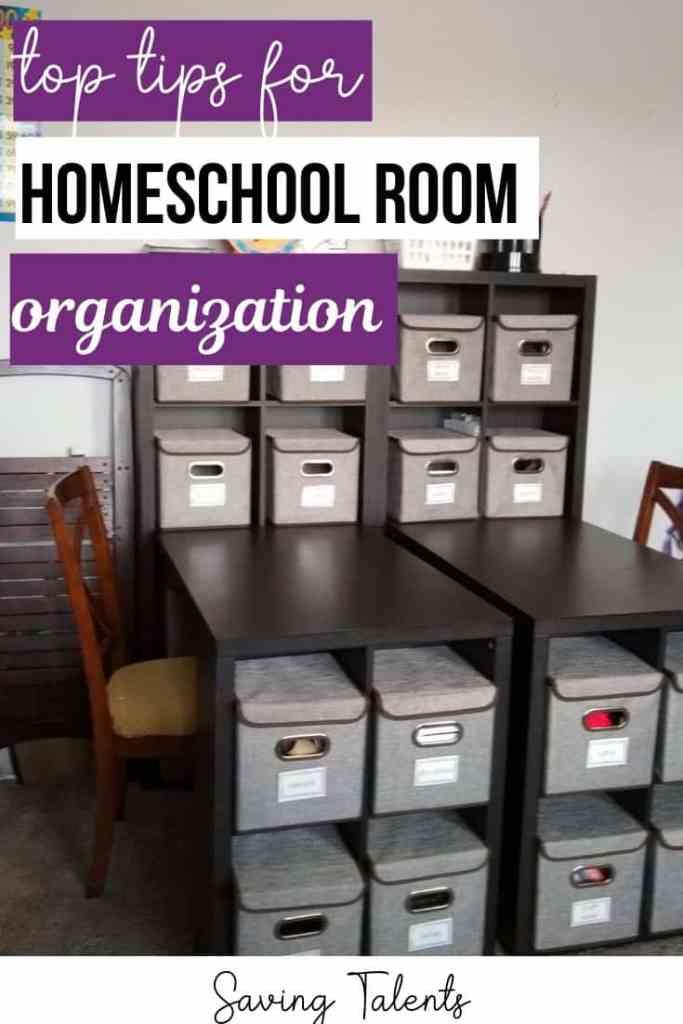 Tips for Homeschool Room Organization