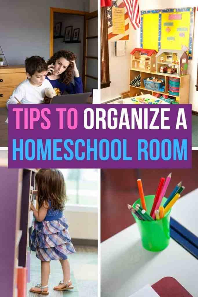 how to organize a homeschool room