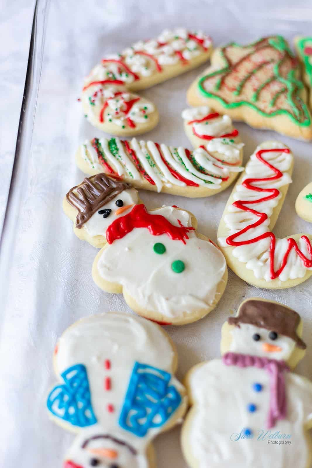 Christmas Sour Cream Sugar Cookies with Cream Cheese Frosting