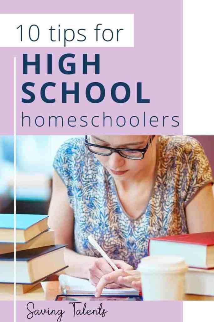 Tips for High School Homeschoolers