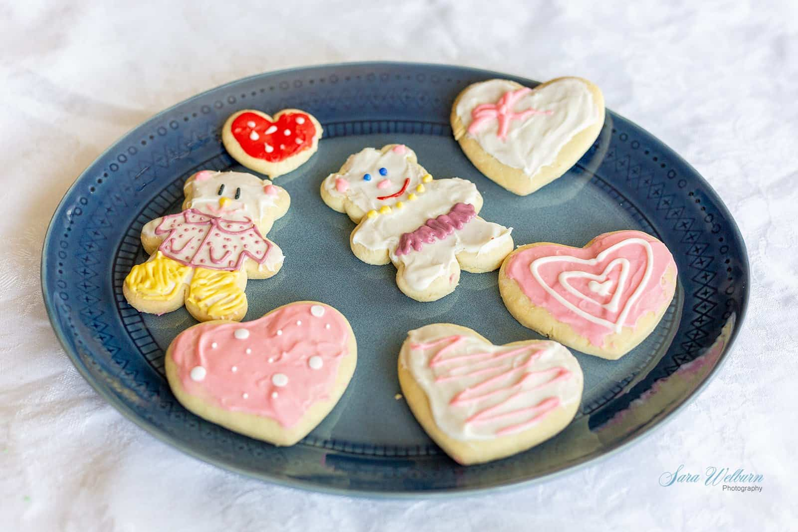 Mother's Day Sour Cream Sugar Cookies with Cream Cheese Frosting