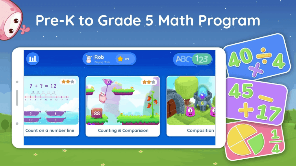Splash Math app for kids