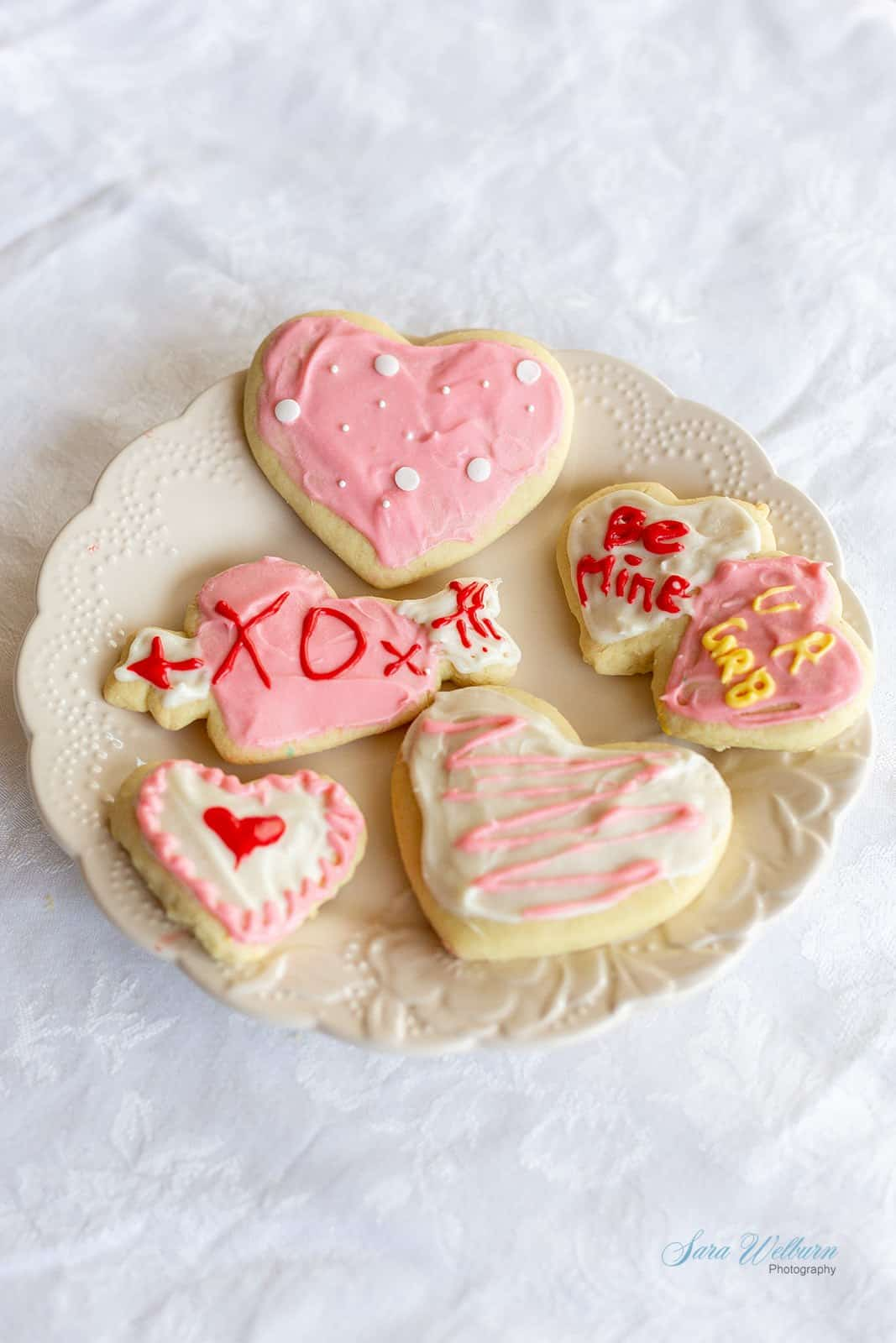 Valentine's Day Sour Cream Sugar Cookies with Cream Cheese Frosting