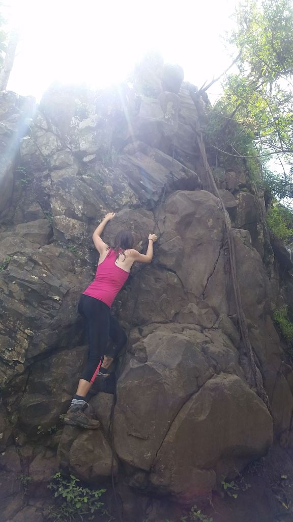 Rock Climbing on Olomana Mountain Oahu Hawaii
