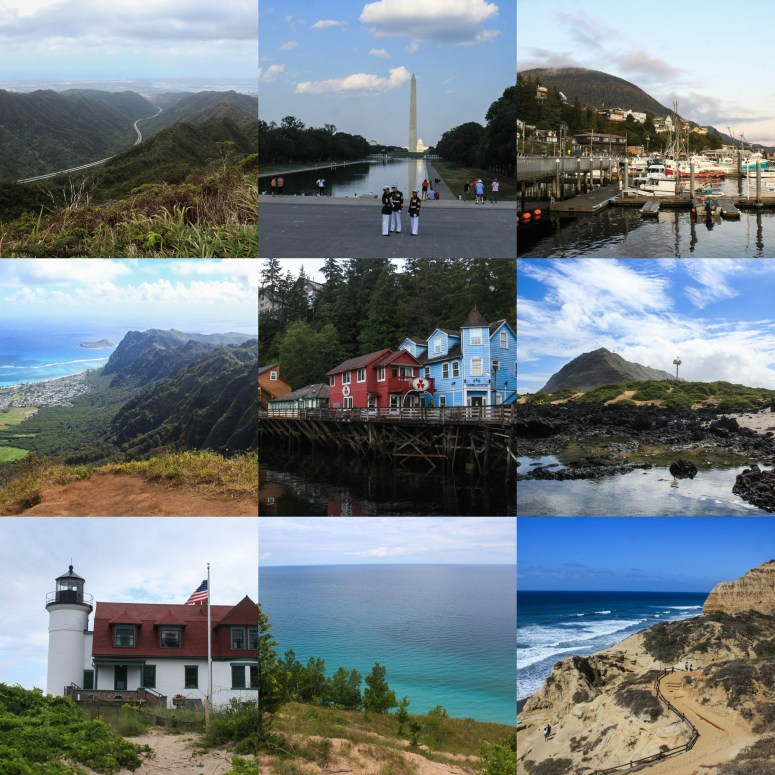 Photo Collage of places we visited in 2019