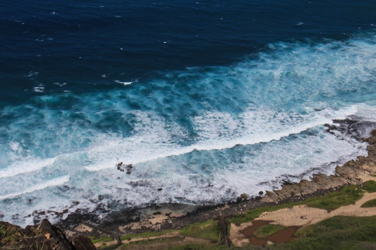 North Shore Waves view from Kaena Point Pillboxes