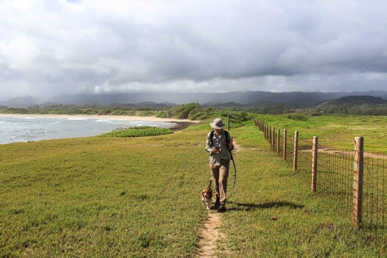 Hiking to Kahuku Point on the North Shore of Oahu, Hawaii