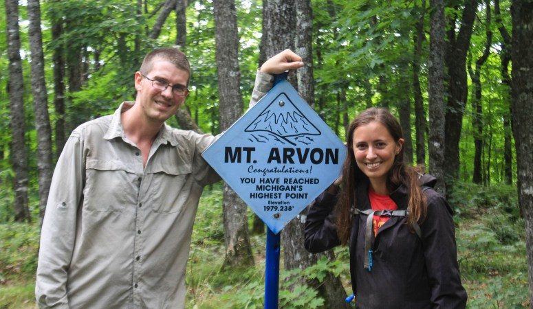 MI to MN / Hiking Mount Arvon