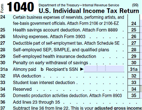 form 1040 Adjusted Gross Income