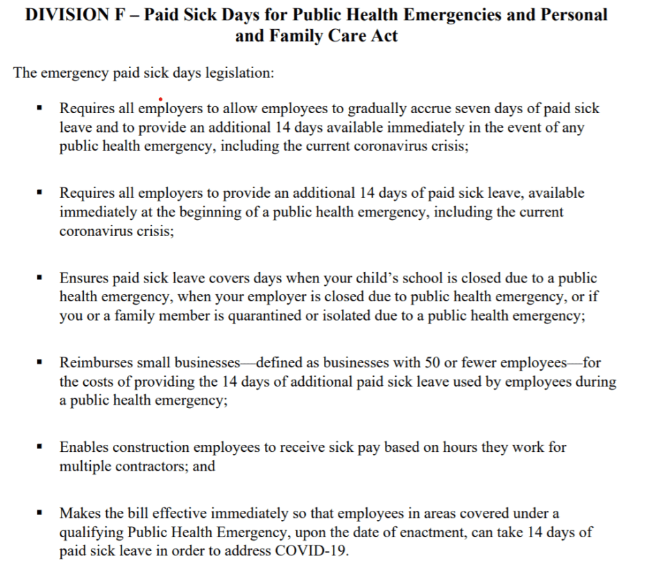 2020 Paid Leave Provisions