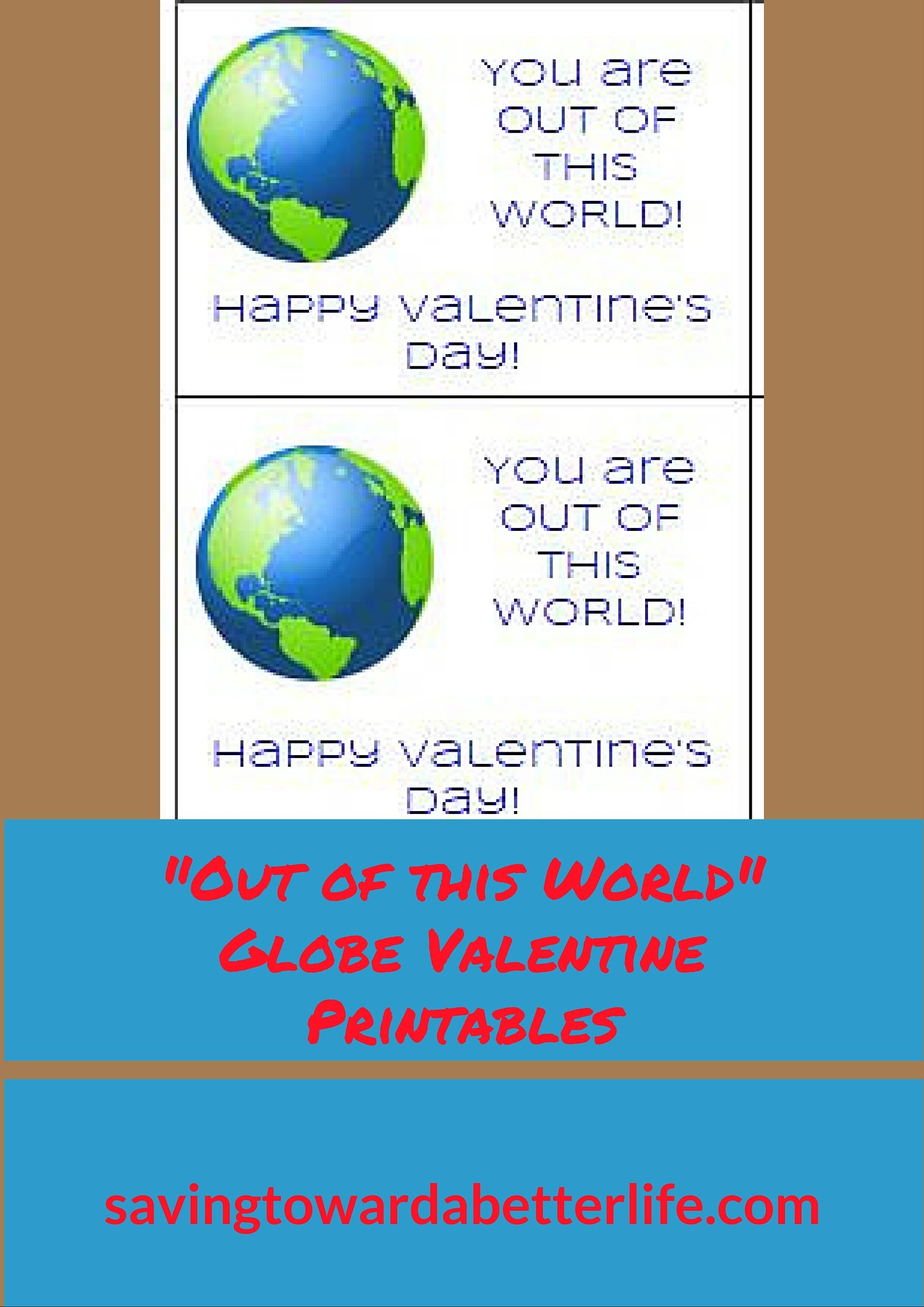 Out Of This World Valentine S Idea With Printable Tags