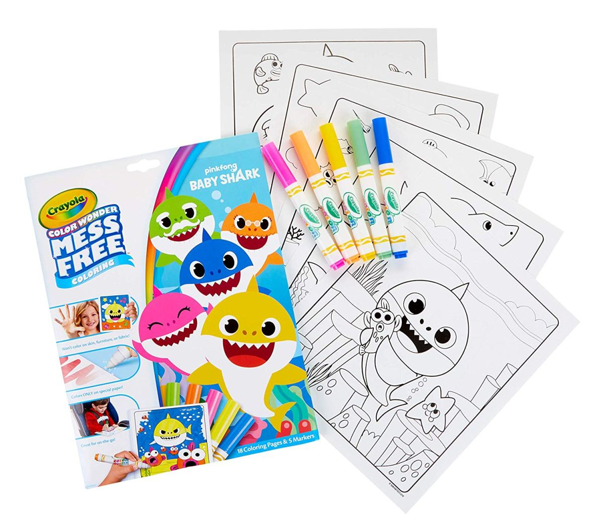 Crayola Color Wonder Baby Shark Coloring Pages Only $6.79 ...